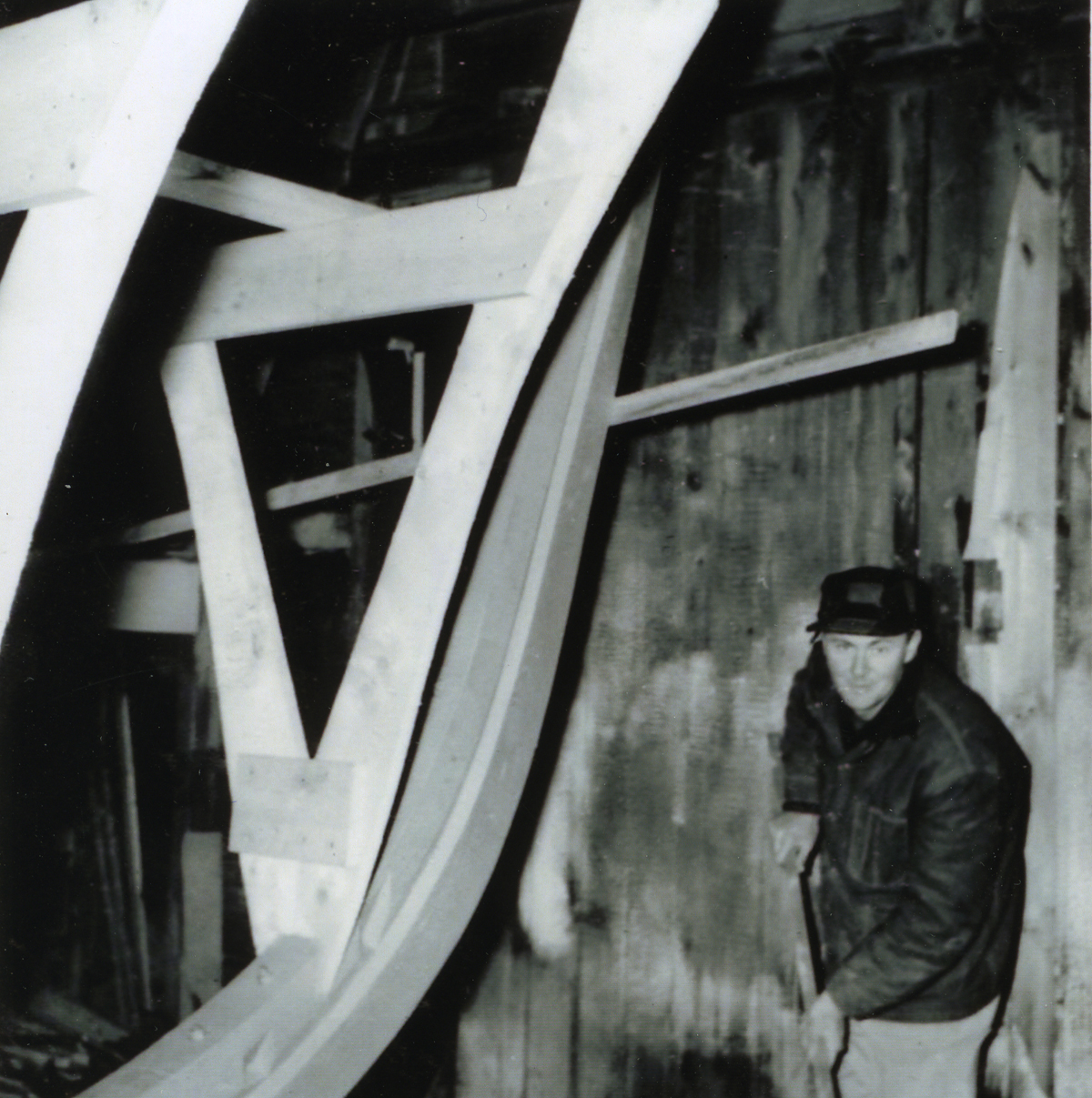 Ralph at Work in His Barn