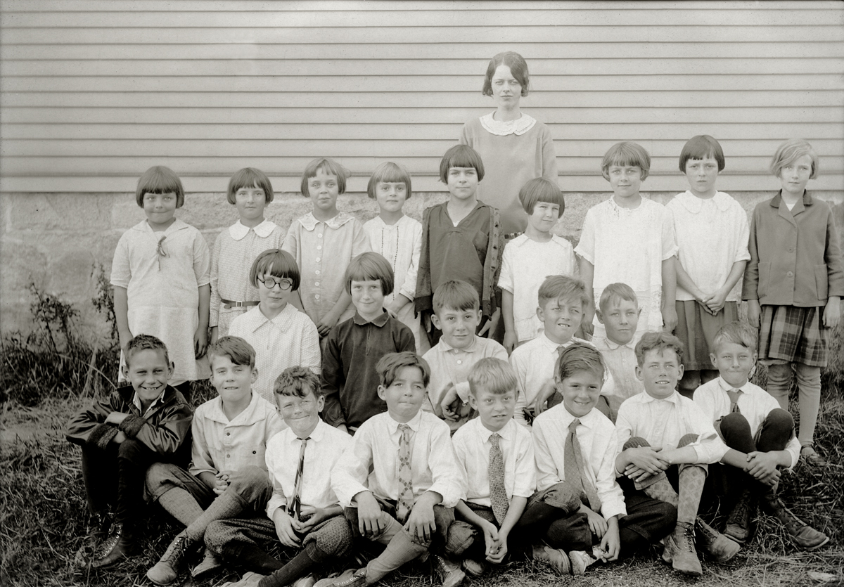 Primary School, Southwest Harbor - Miss Fernald and Students