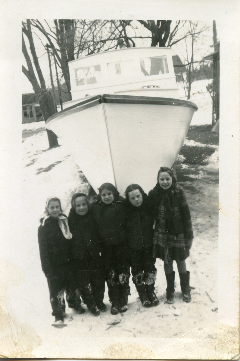 Children with Rich & Grindle Lobster Boat