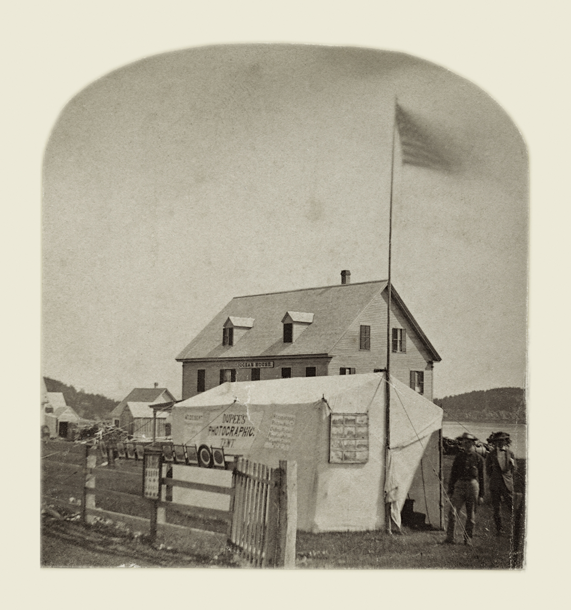 Isaac H. Dupee's Photographic Tent at the Ocean House, Eden, Maine