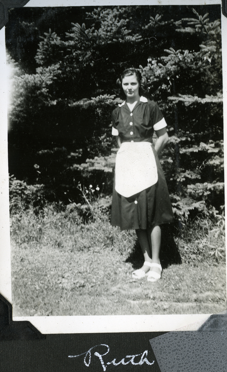 Ruth Celestia Stanley as a Waitress at the Claremont Hotel