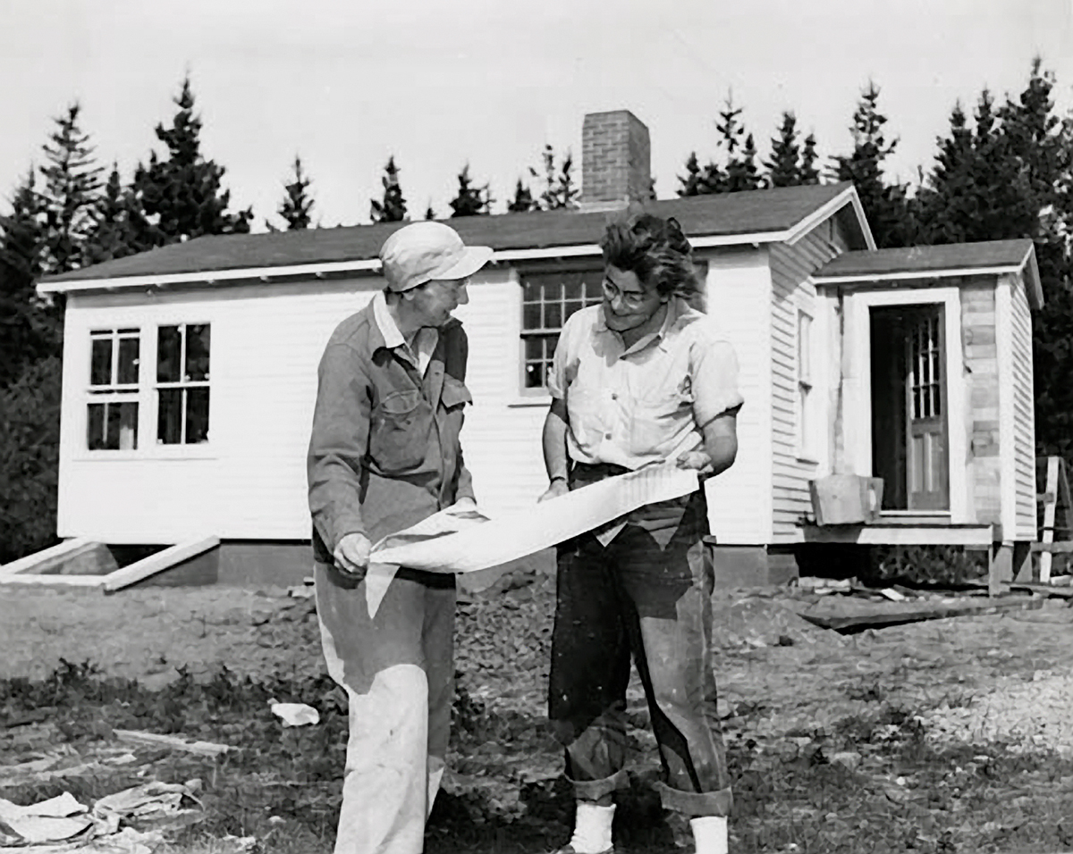 Ruth Moore and Eleanor Mayo Building Their House