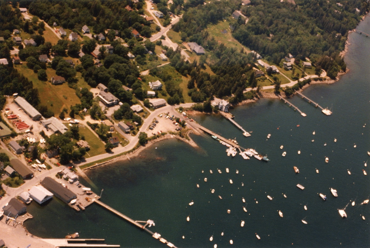 Aerial View of Manset Town Dock to The Henry R. Hinckley Company