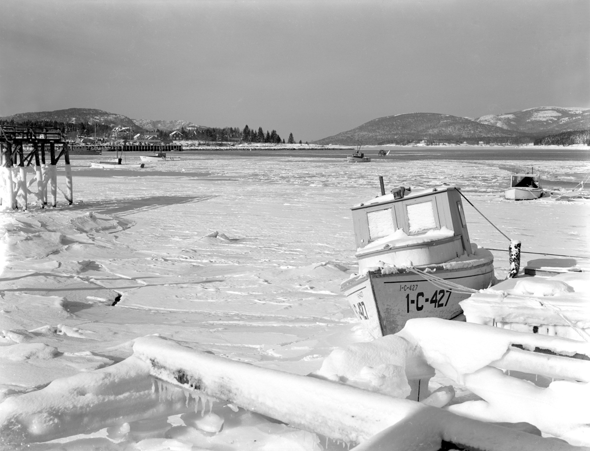 Fishing Boats Romance, Ruthyeolyn and Charles Arthur Smiley's Boat in the Ice at Manset