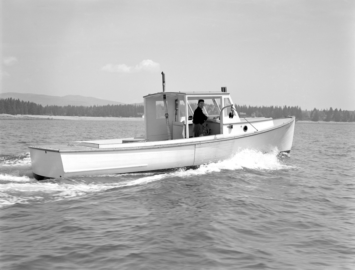 Laurence Saunders Newman Aboard His Lobster Boat