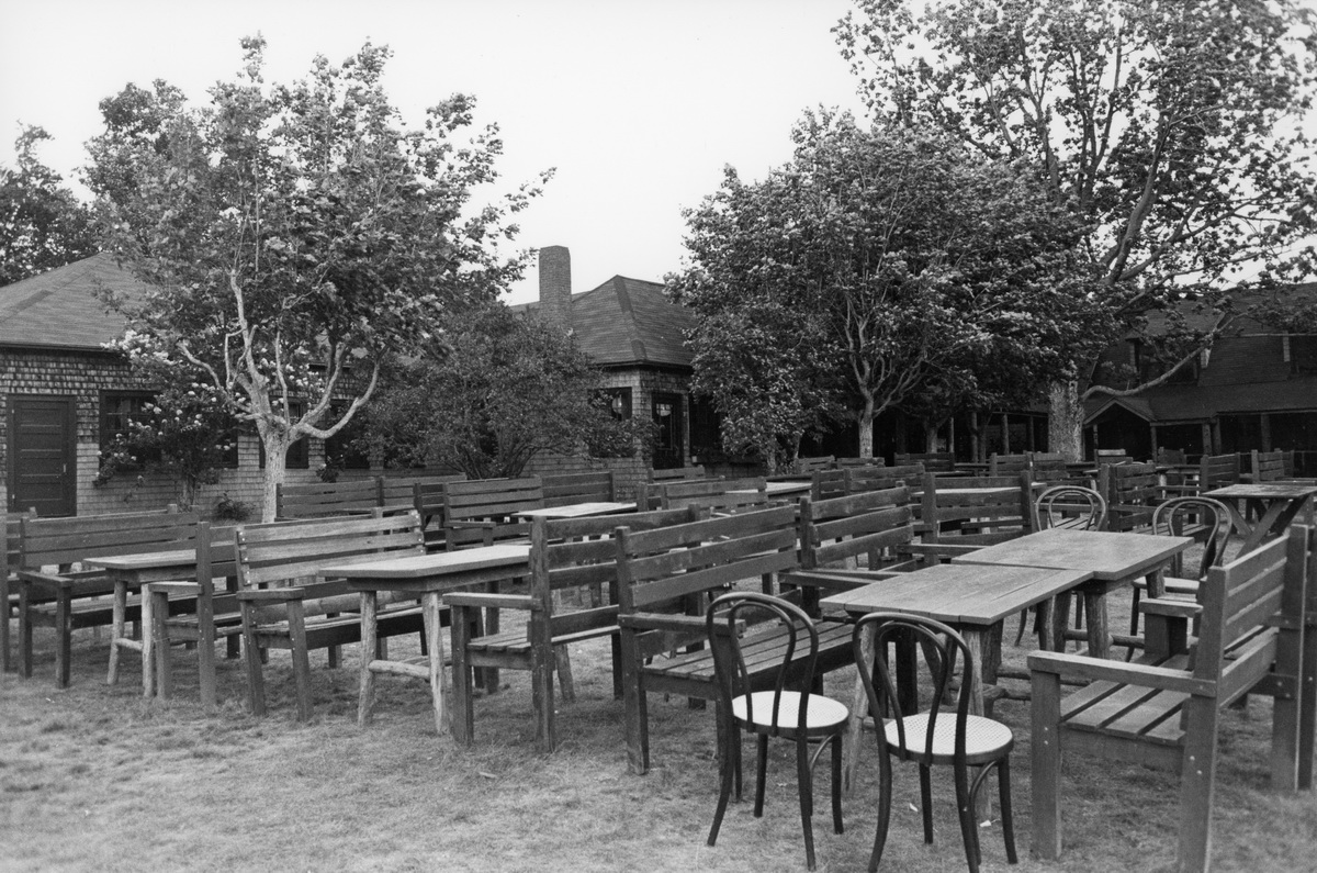 Tables on the Lawn at Jordan Pond House