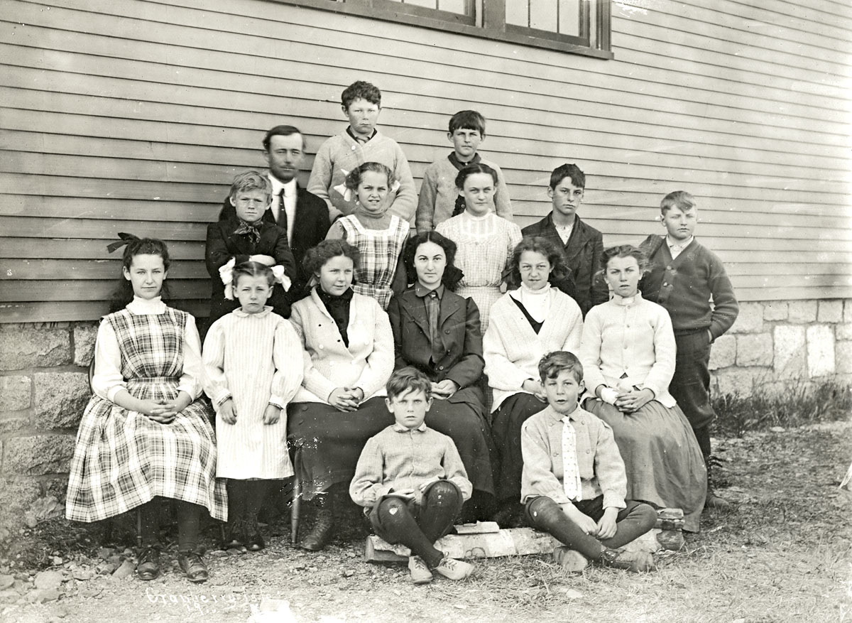 Great Cranberry Island School - Teacher and Students