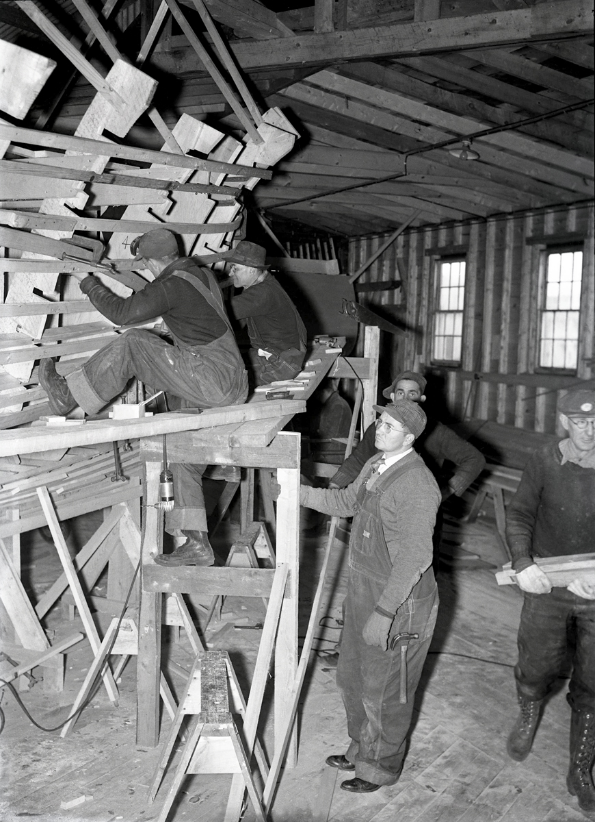 The Henry R. Hinckley Company as Manset Boat Yard - Crew at Work