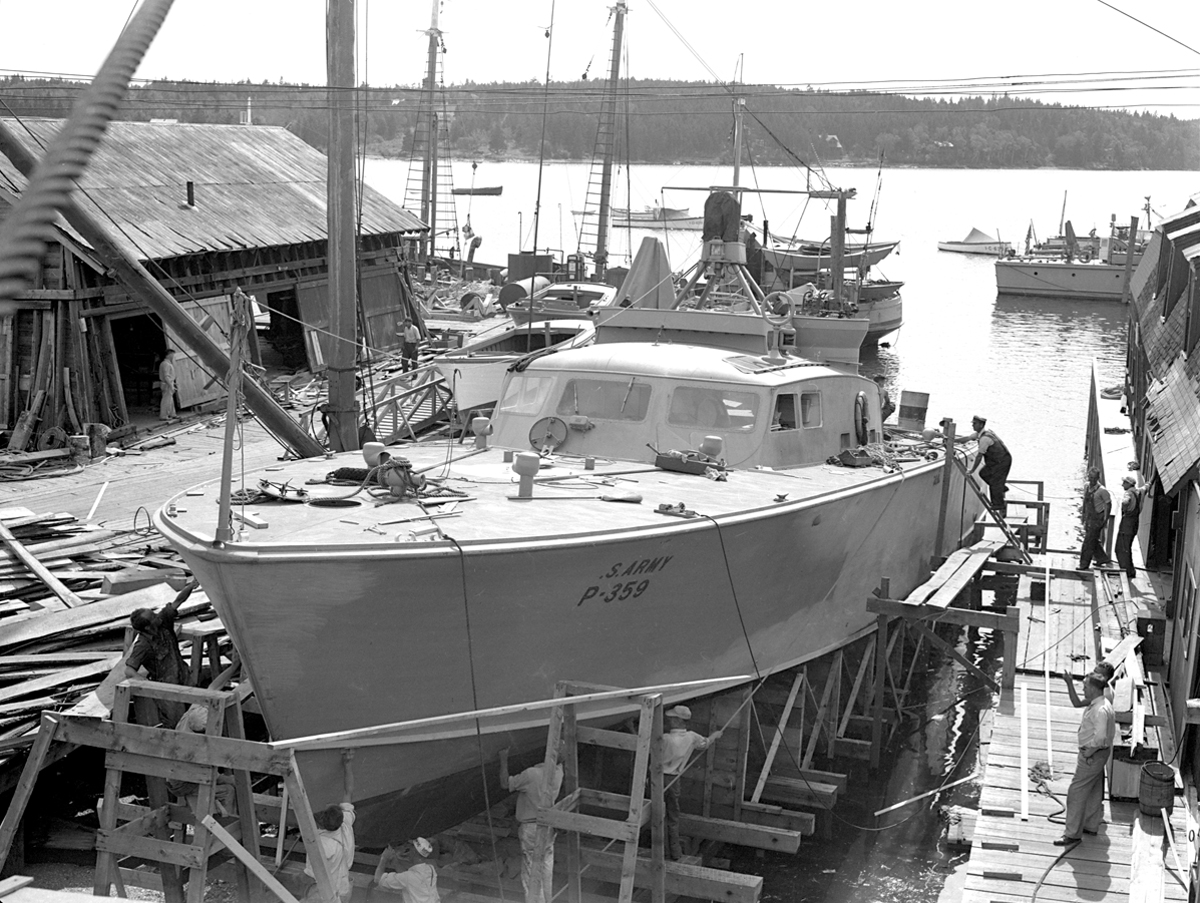 Air Force Crash Boat Hauled Out for Maintenance at Southwest Boat
