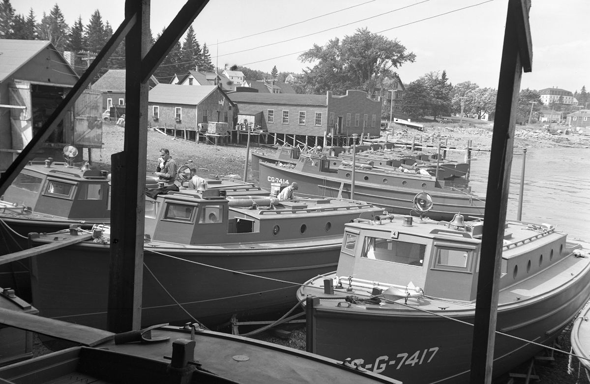 The Henry R. Hinckley Company - as Manset Boat Yard - Coast Guard Boats on the Old Shore