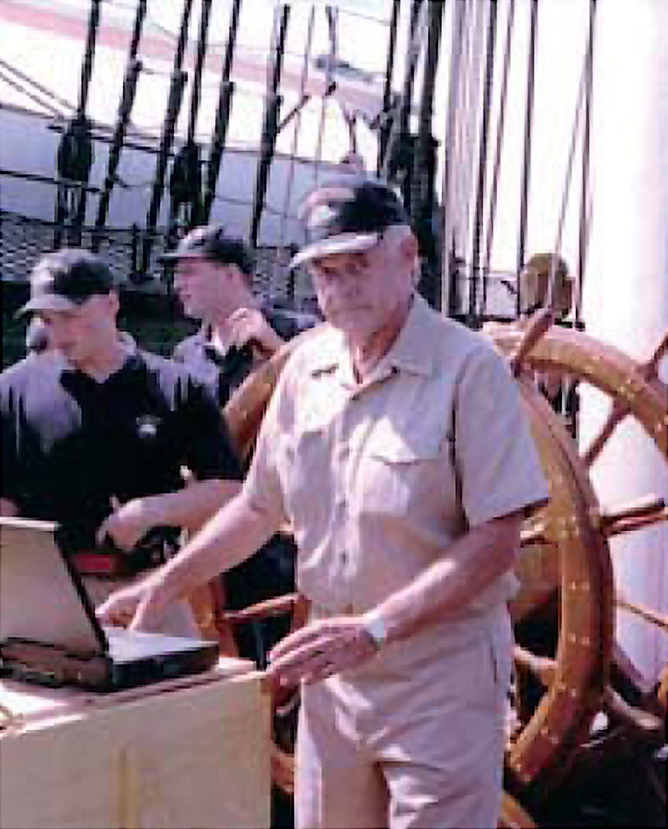 Captain William Harland Kelley in Command of the USS Constitution