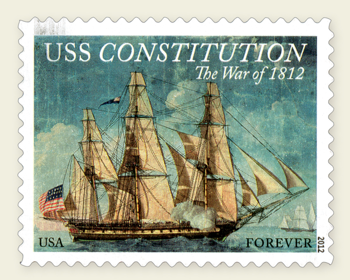 United States Stamp - USS Constitution - The War of 1812 - Issued August 18, 2012