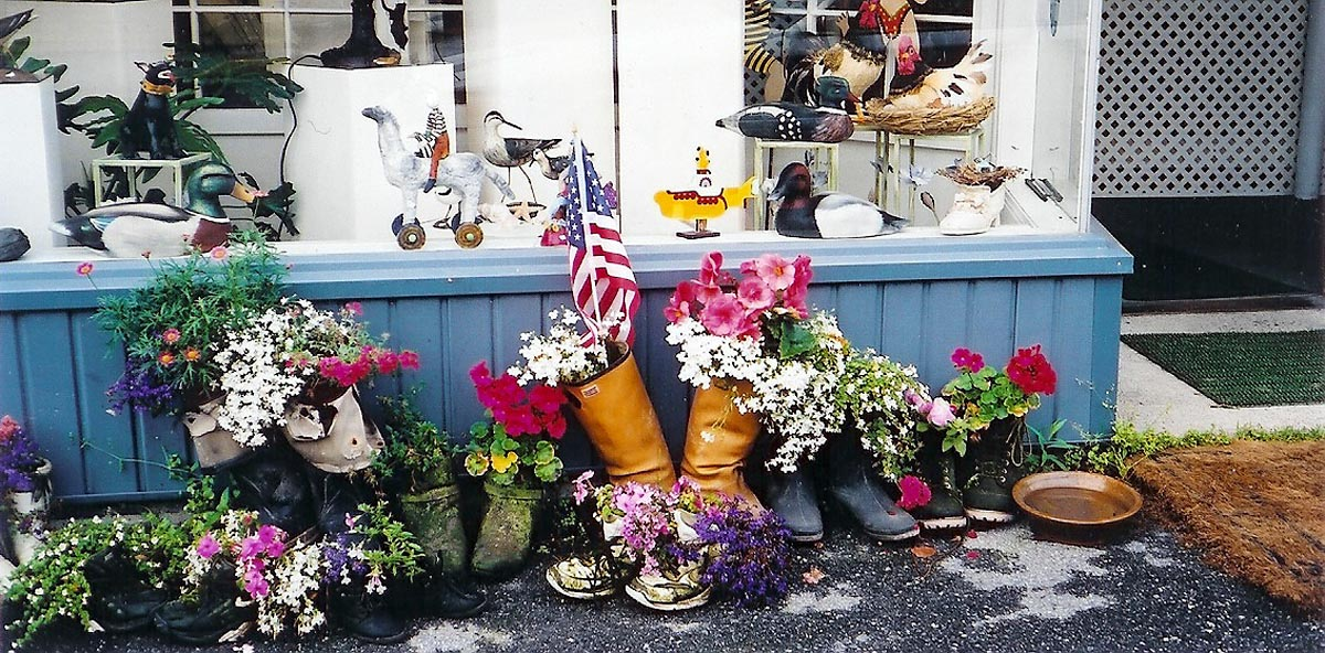 Boots and Flowers Outside Hot Flash Anny