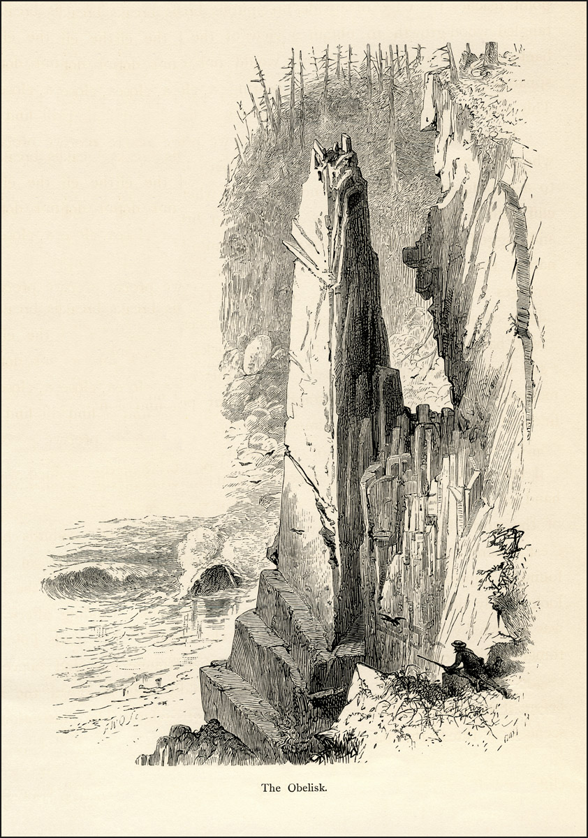 """""""The Obelisk"""" at Monument Cove - 1872"""