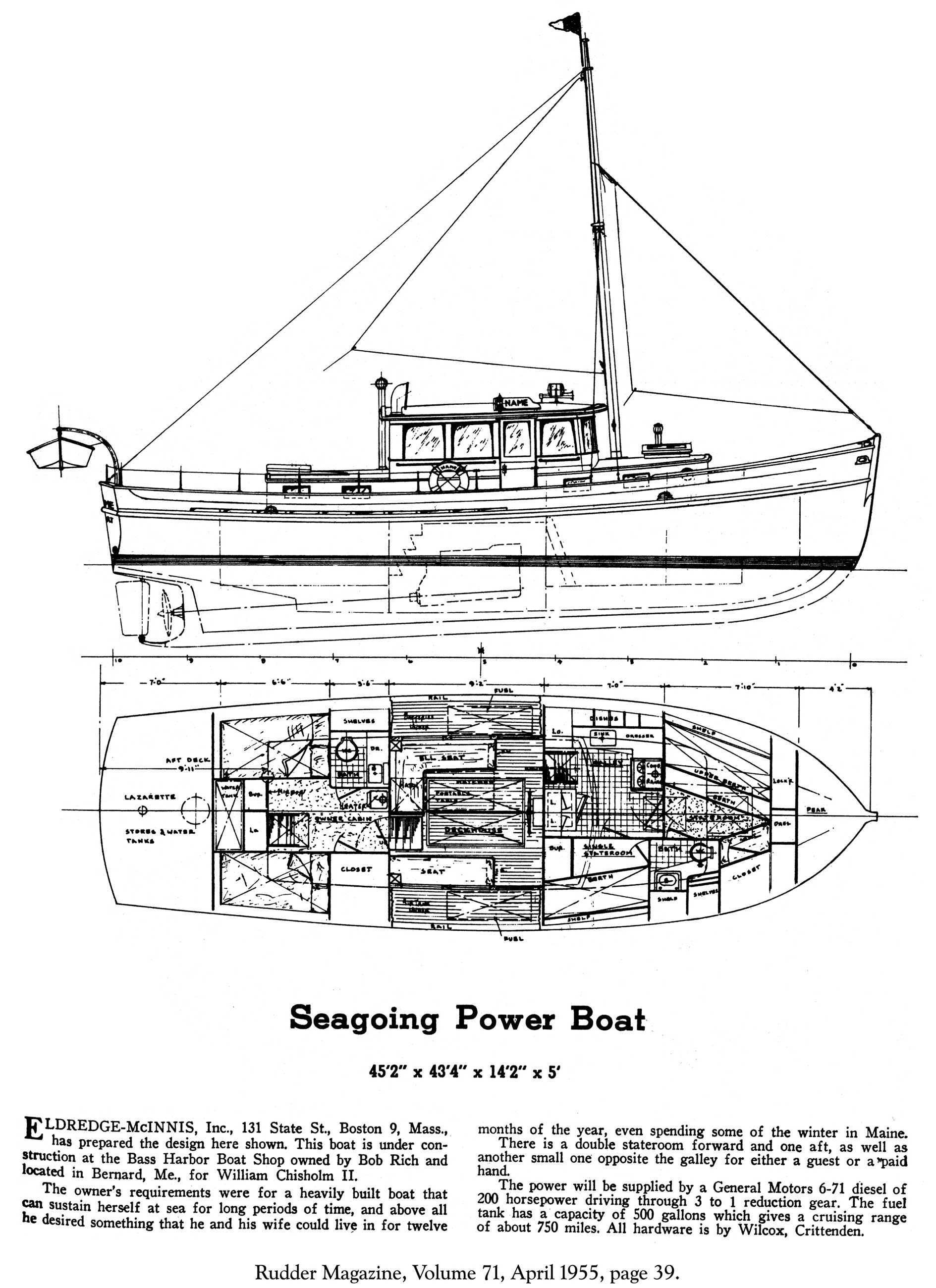 Seagoing Power Boat