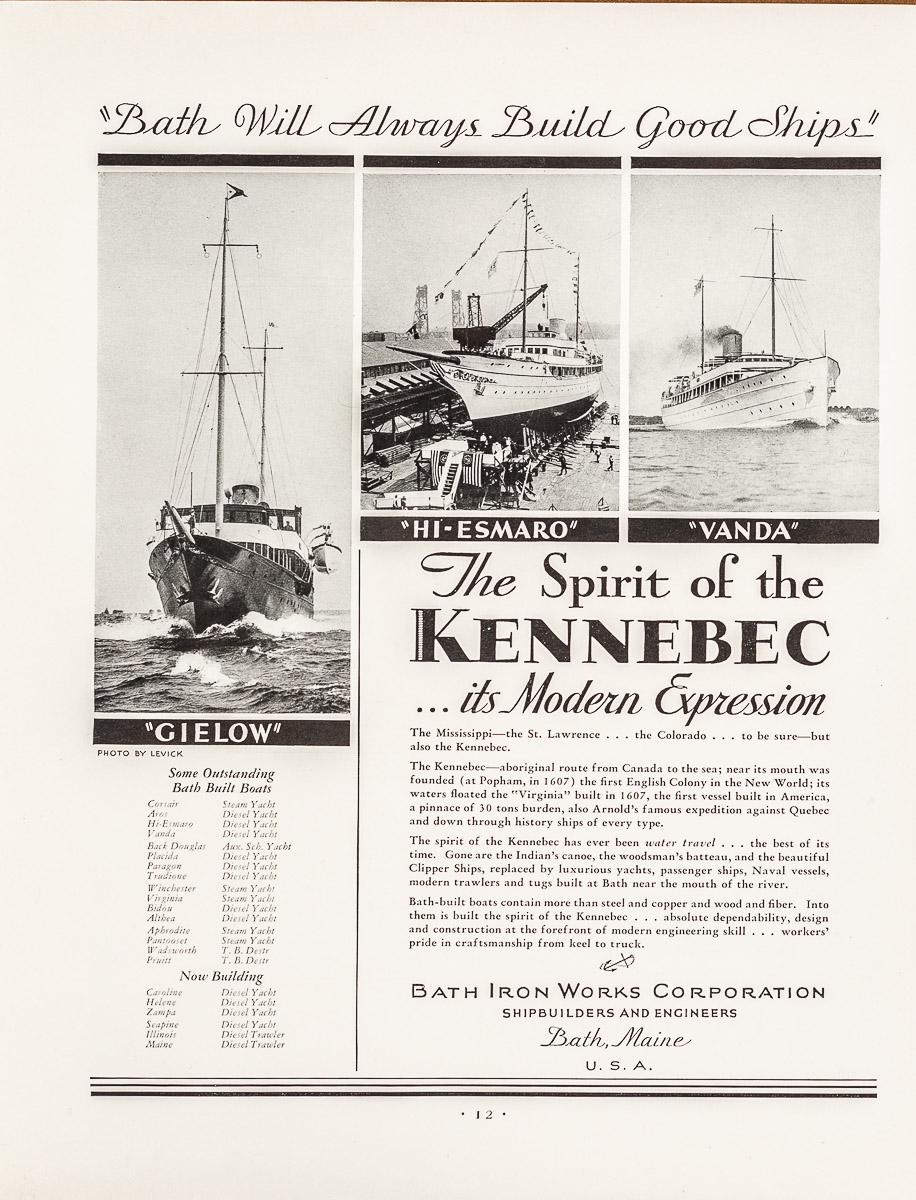Advertisement for Bath Iron Works