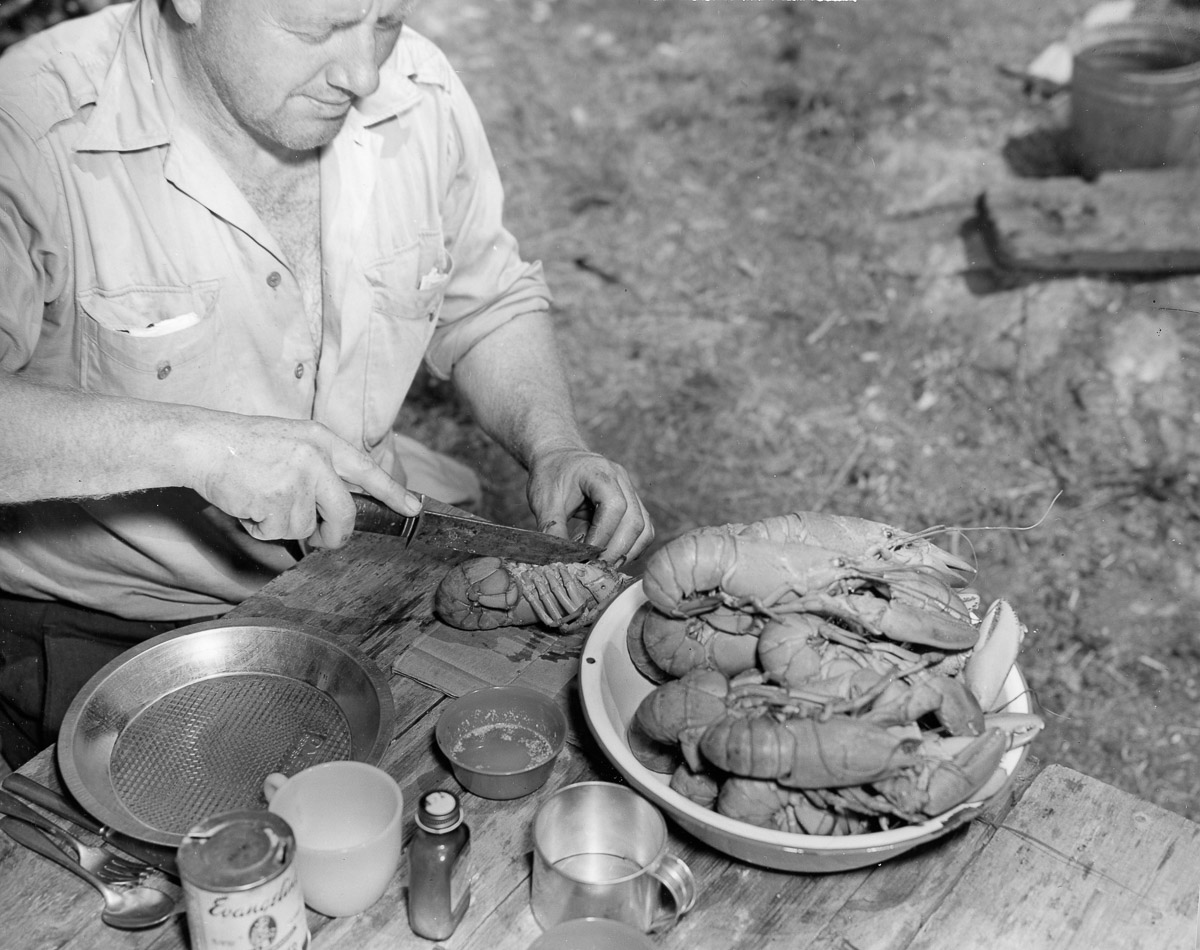 Chef Red Long Prepares Another Lobster Dinner