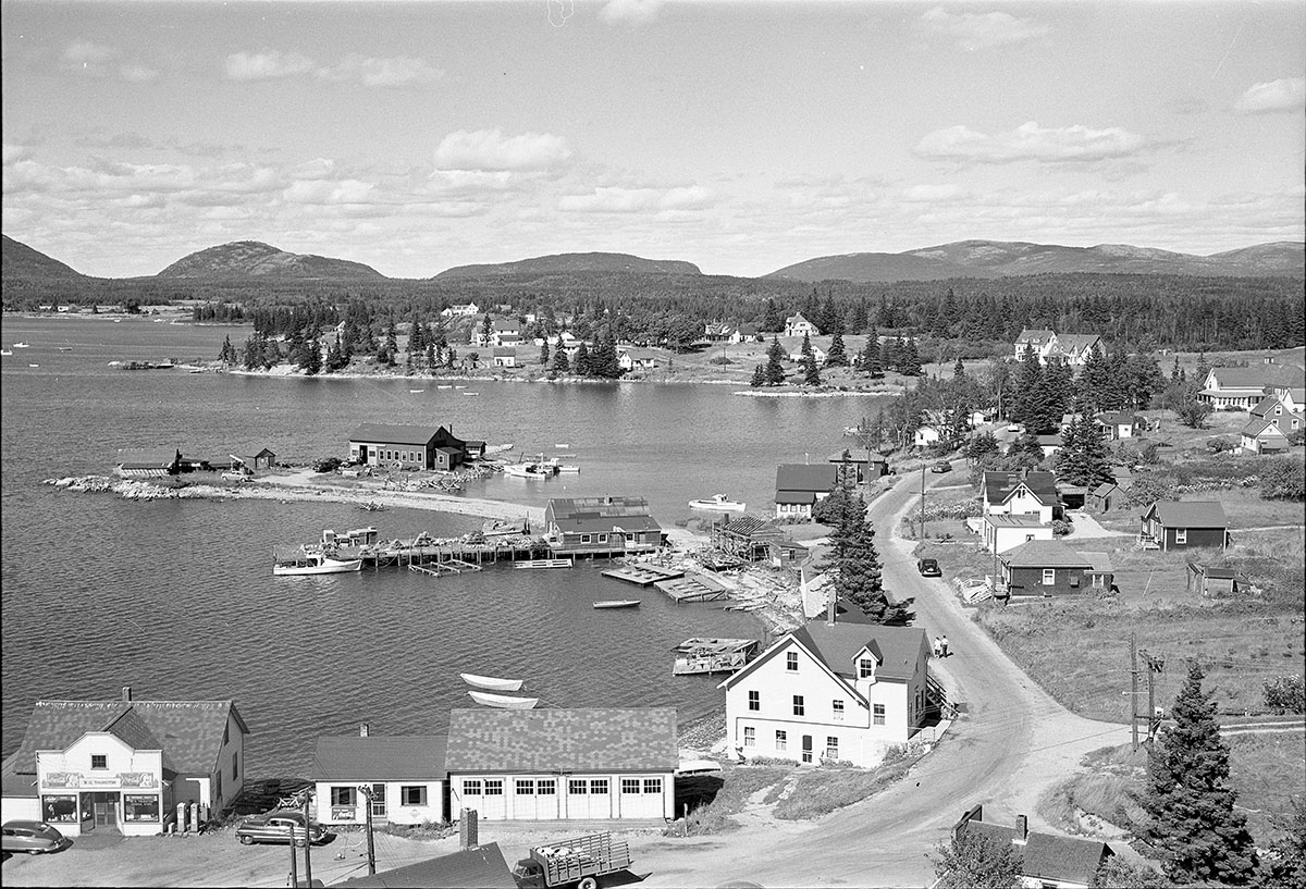 View of Bass Harbor from the Underwood Water Tower