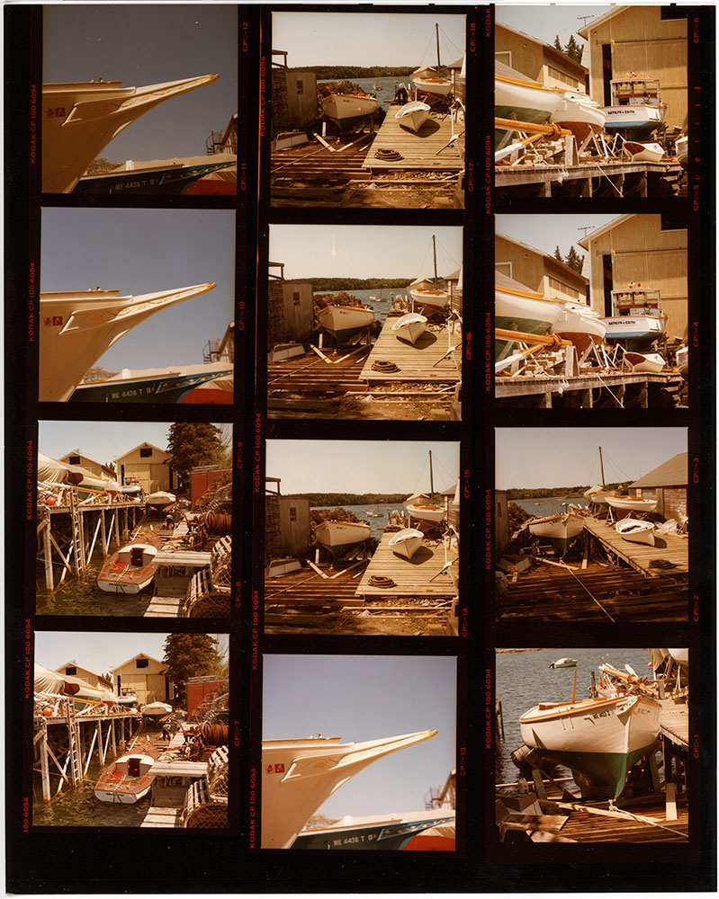 Ralph Stanley's boat yard late 1980's