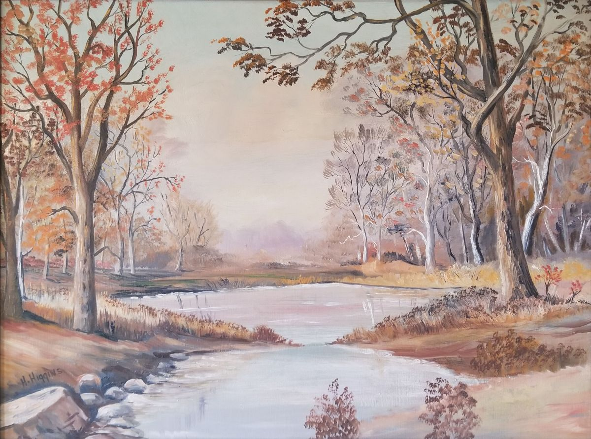 Autumn Scene painting by Howe D. Higgins