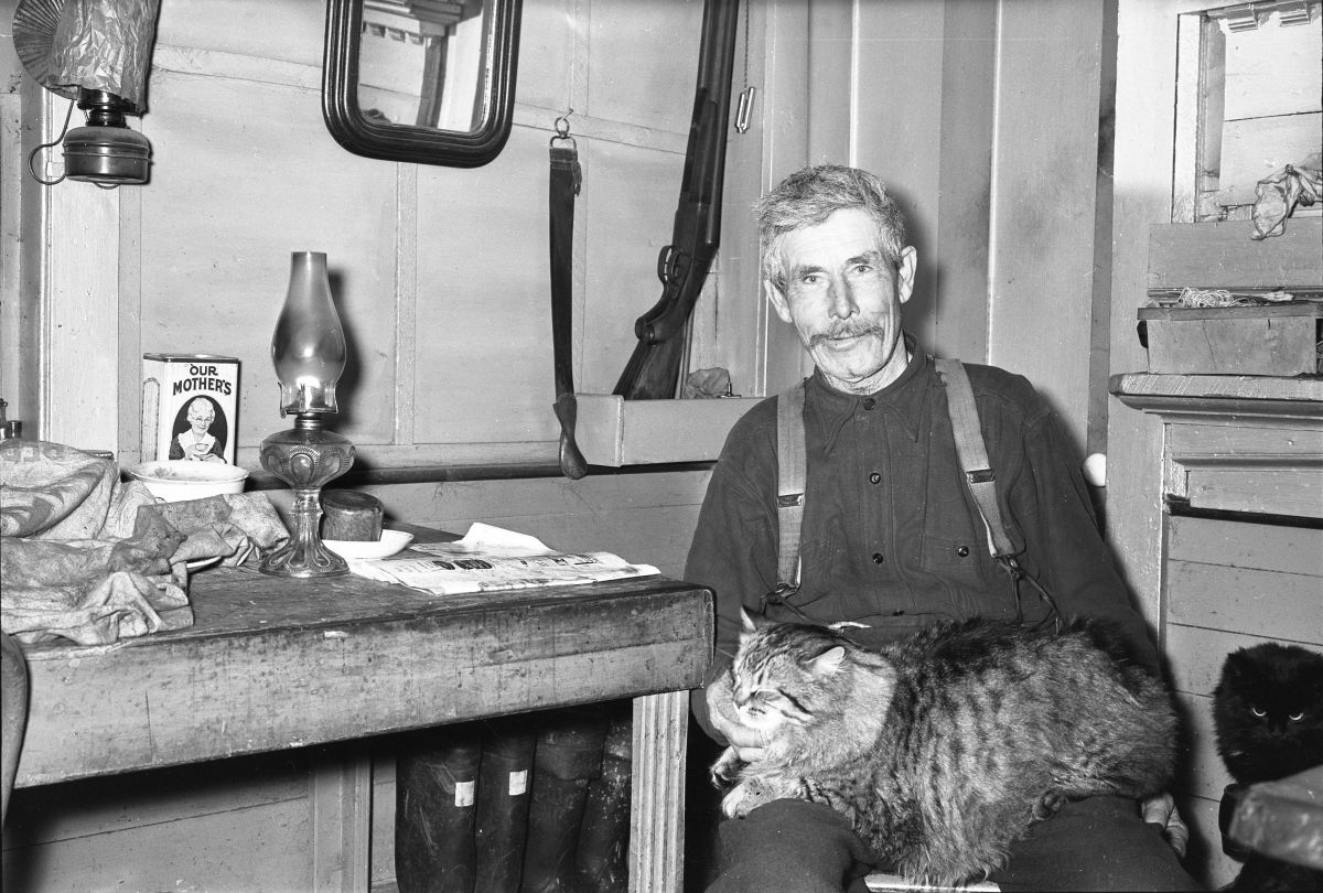 Monetelle Gott with two cats.