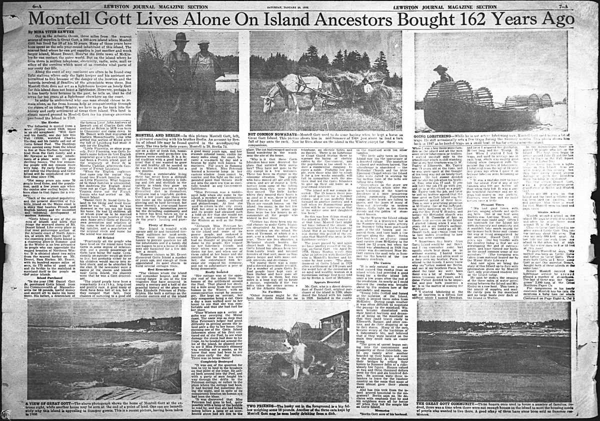 Montell Gott Lives Alone On Island Ancestors Bought 162 Years Ago