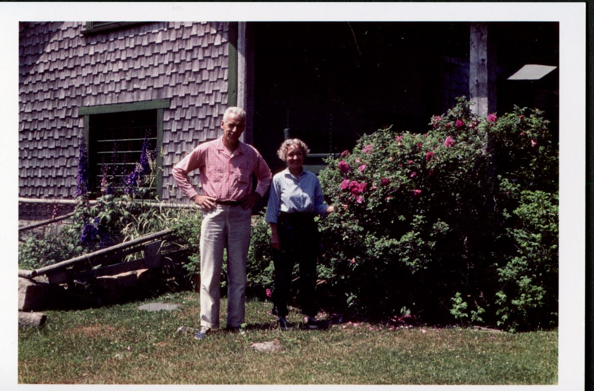 Art and Nan Kellam in the Garden Outside Homewood