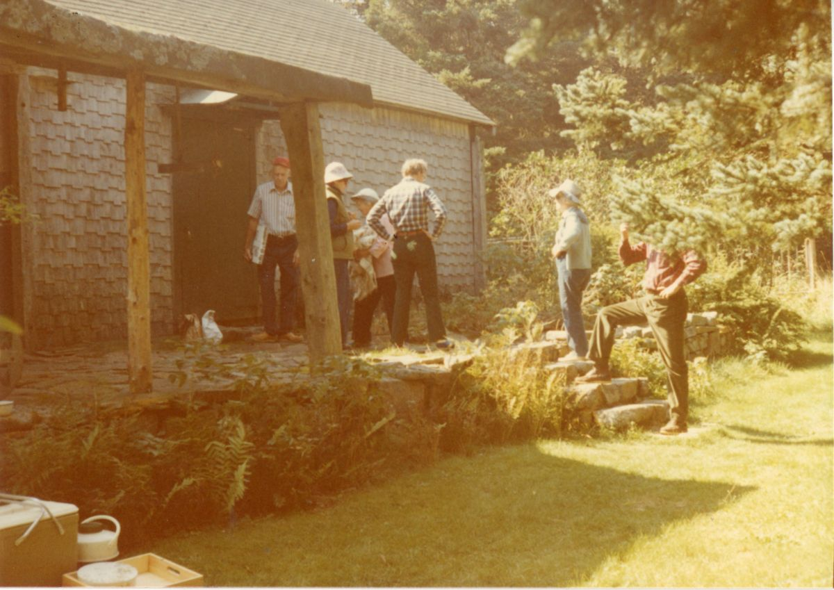 Art and Nan Kellam's House on Placentia Island with Visitors