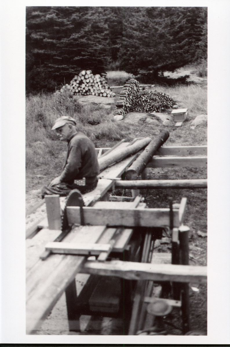 Unknown Man at Sawmill on Placentia Island