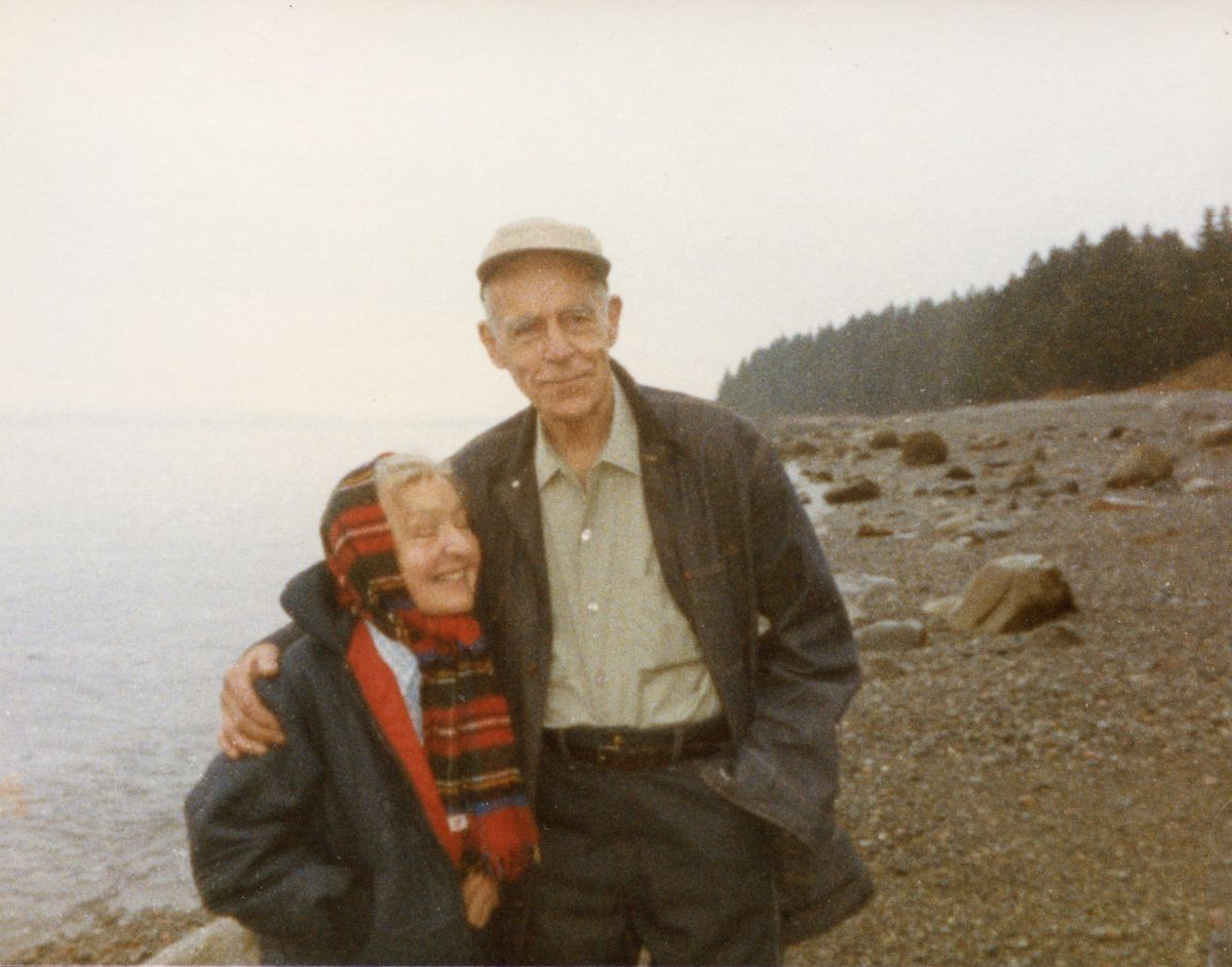 Nan and Art Kellam on the Shore of Placentia Island