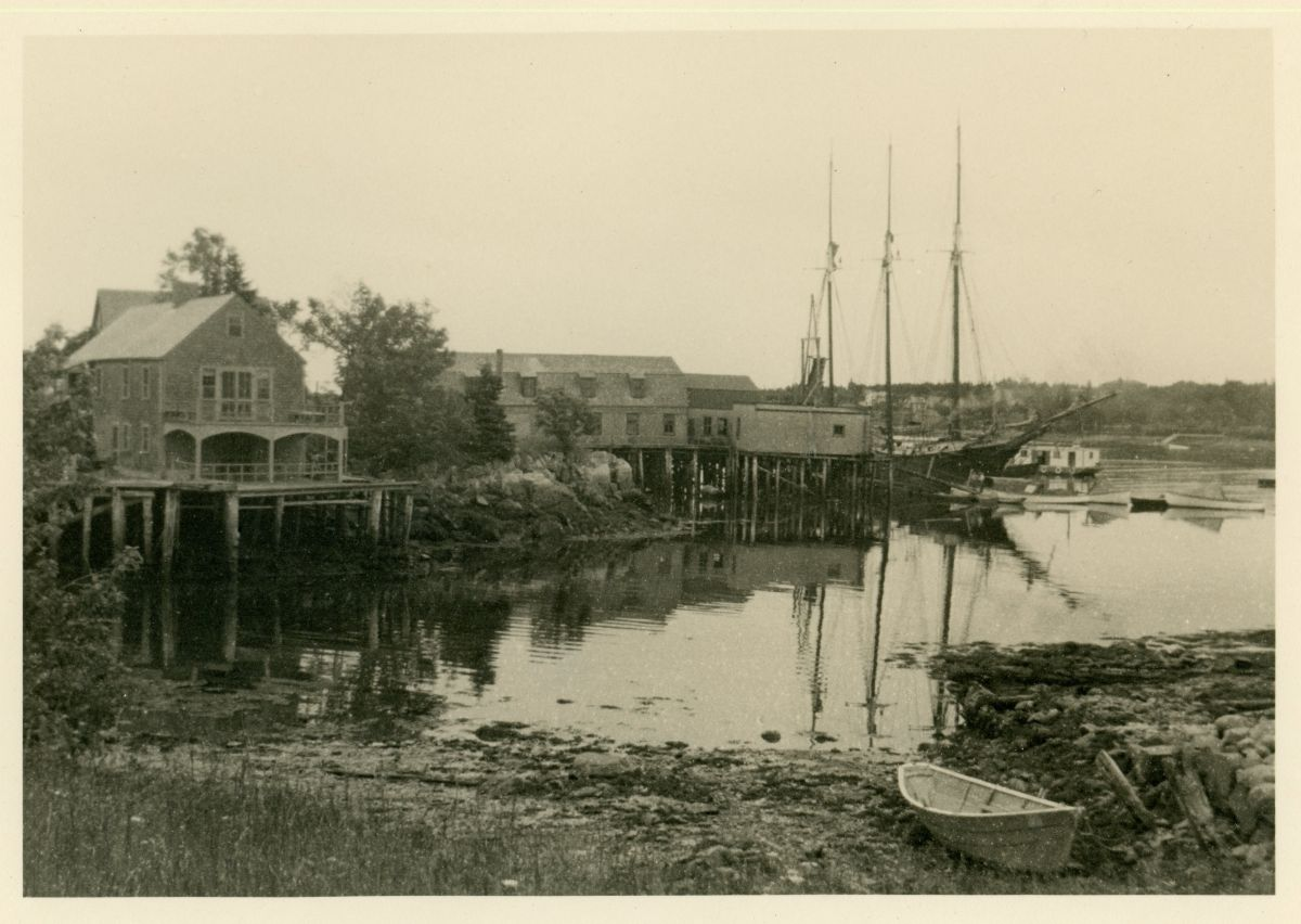 View of Wharf at Clark Point, Southwest Harbor