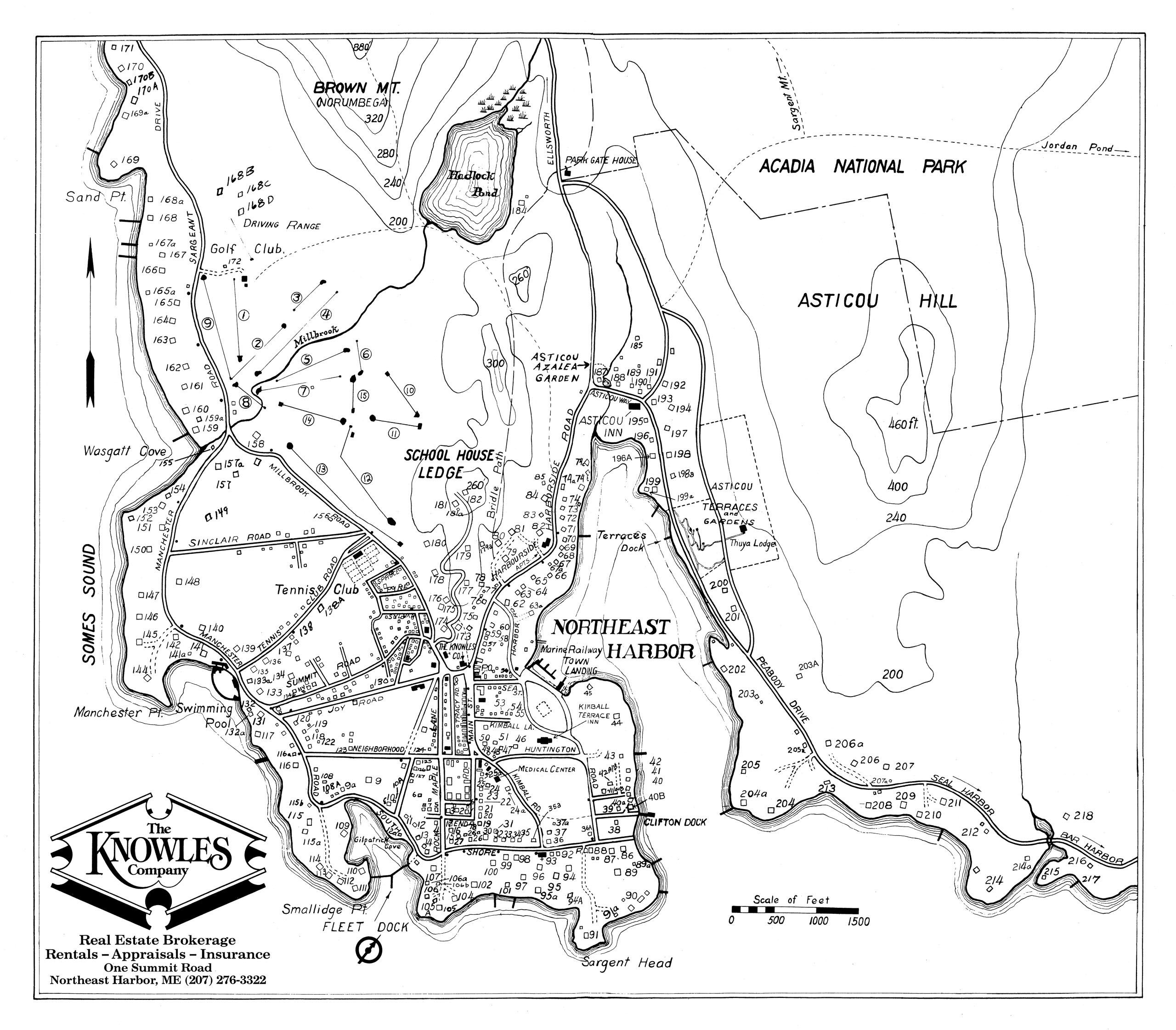 1994 Cottage Directory of Northeast Harbor, Maine