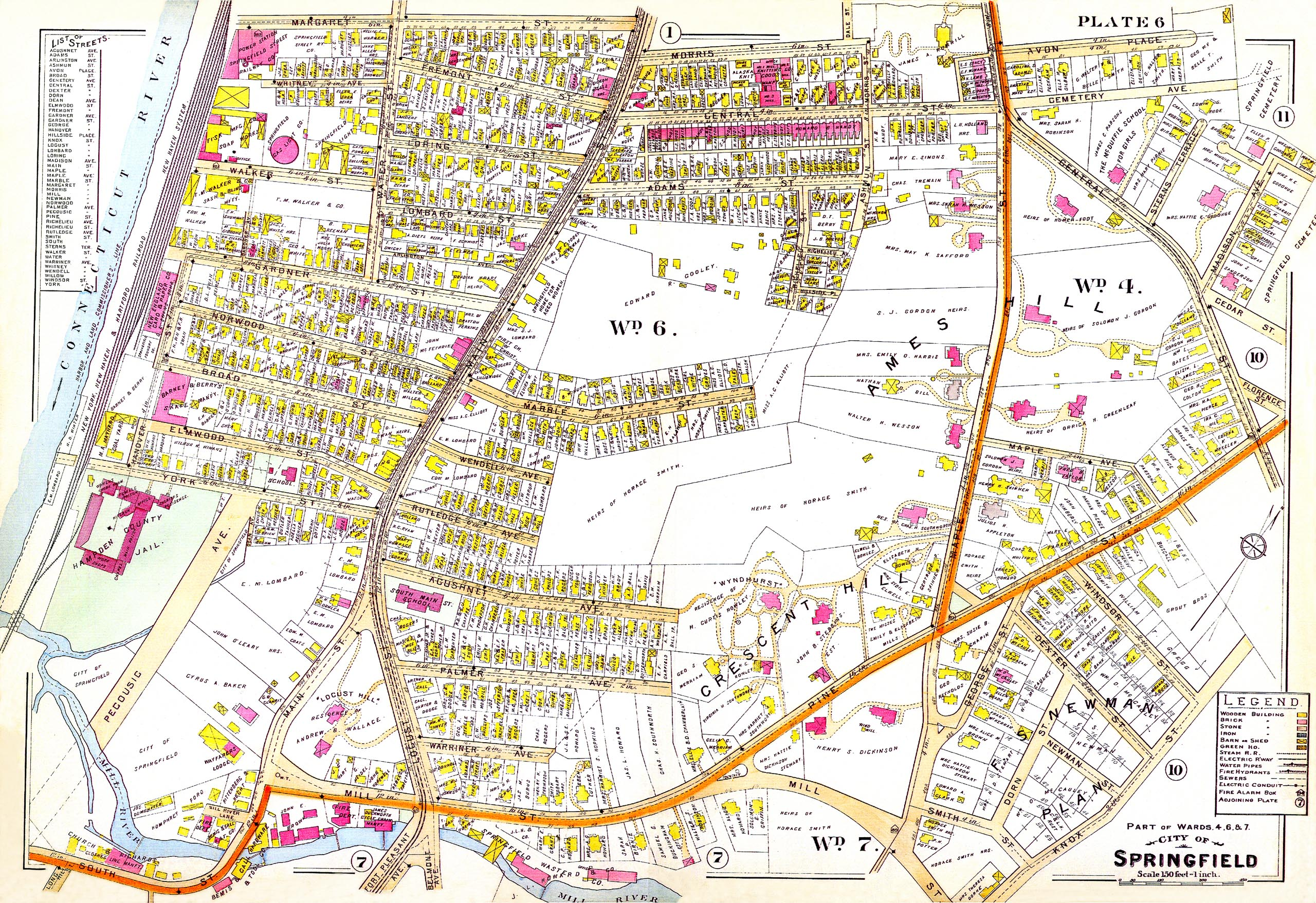Parts of Wards 4, 6 & 7, City of Springfield
