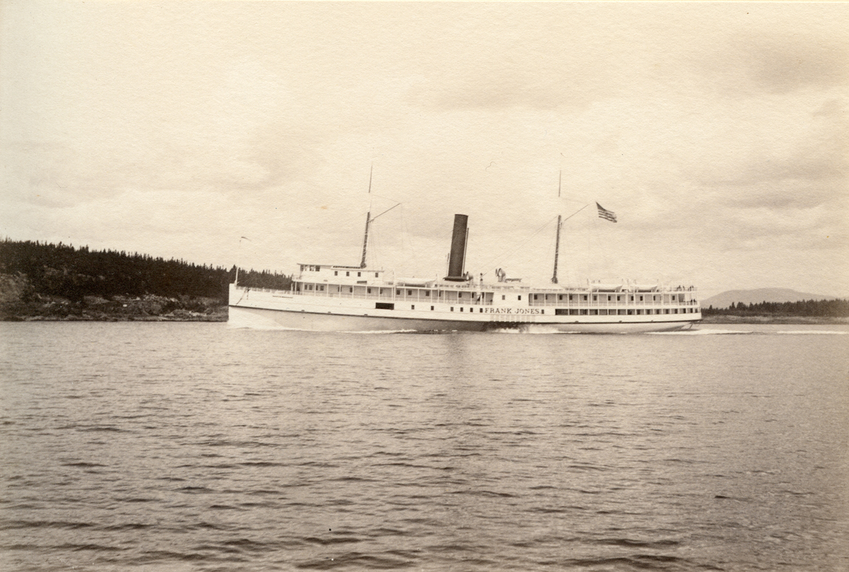 Sidewheel Steamer Frank Jones Off Bass Harbor Head