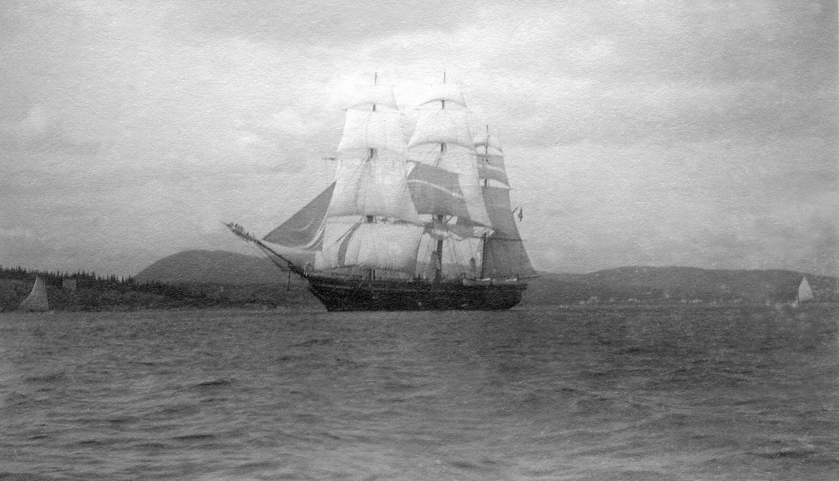 New York Nautical School Ship, Sloop St. Mary's Under Sail