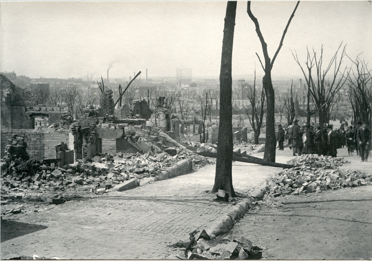 Chelsea Fire Ruins from Bellingham Hill