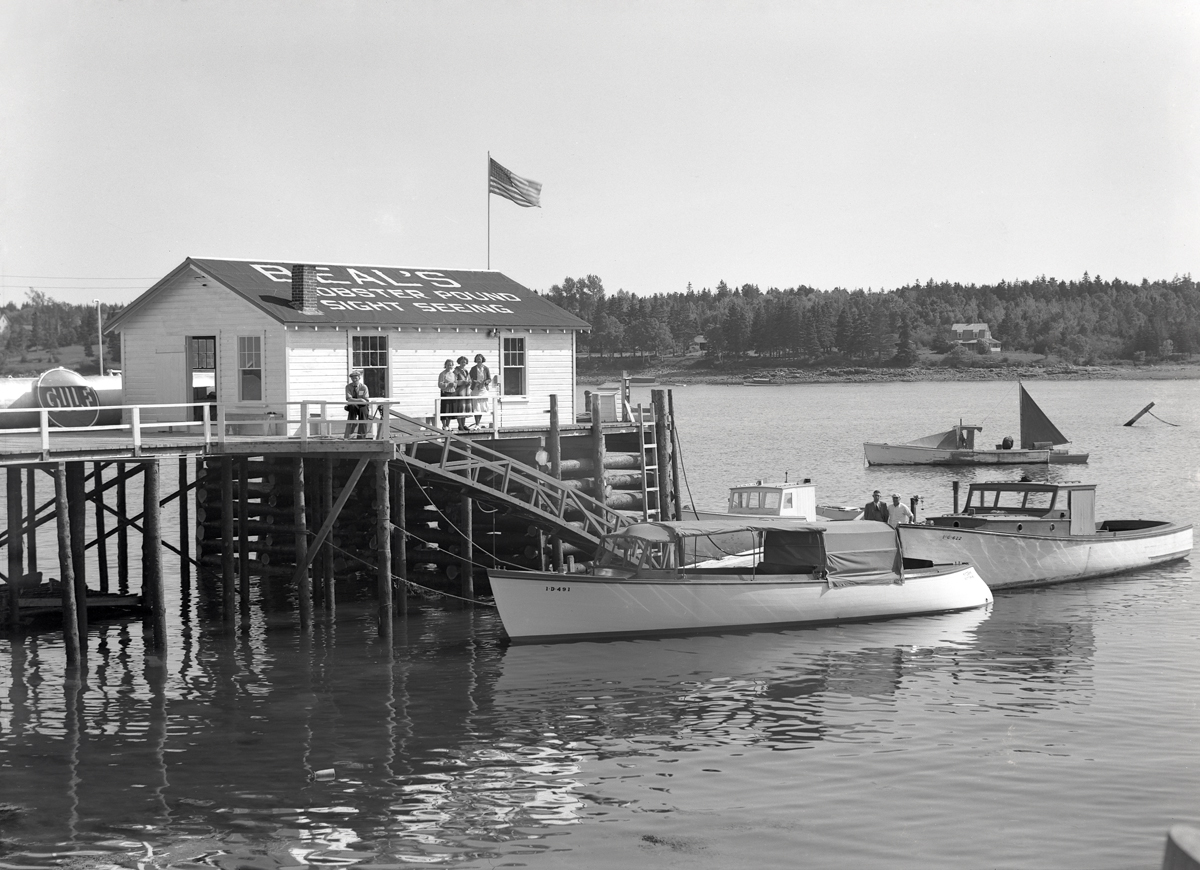 Sightseeing Boat at Beal's Fish Wharf, Southwest Harbor