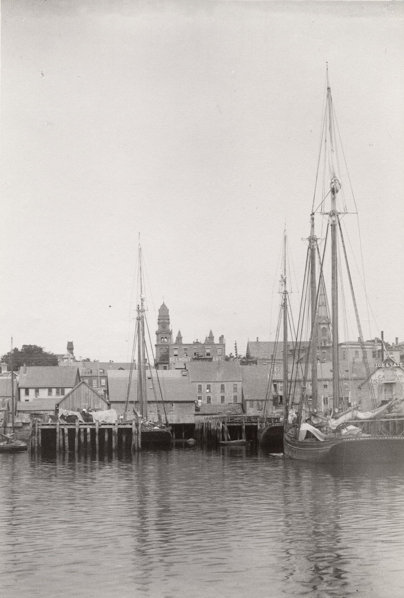 Fishing Schooner Ralph F. Hodgdon and others at Gloucester Wharves