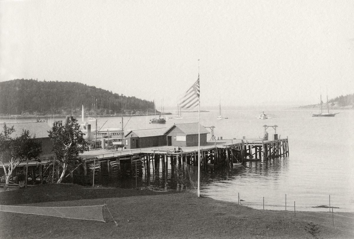 Maine Central Ferry Landing at Bar Harbor from the Newport House Piazza