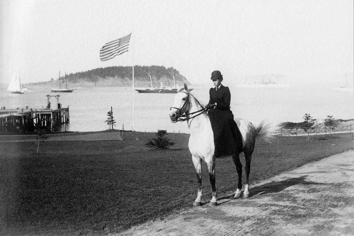 """Daisy on Daisy"" - Margaret Arnold Rand Side Saddle at Bar Harbor"