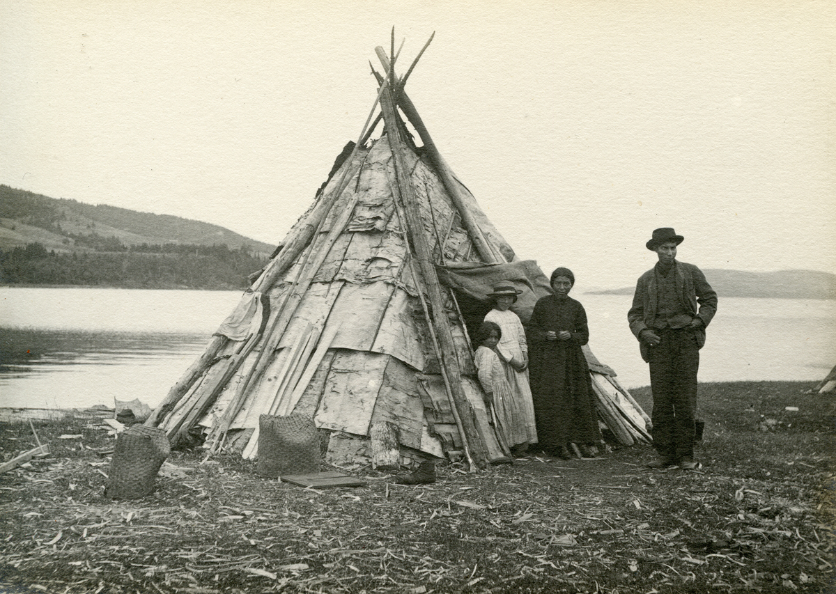 Indigenous Family at Wigwam