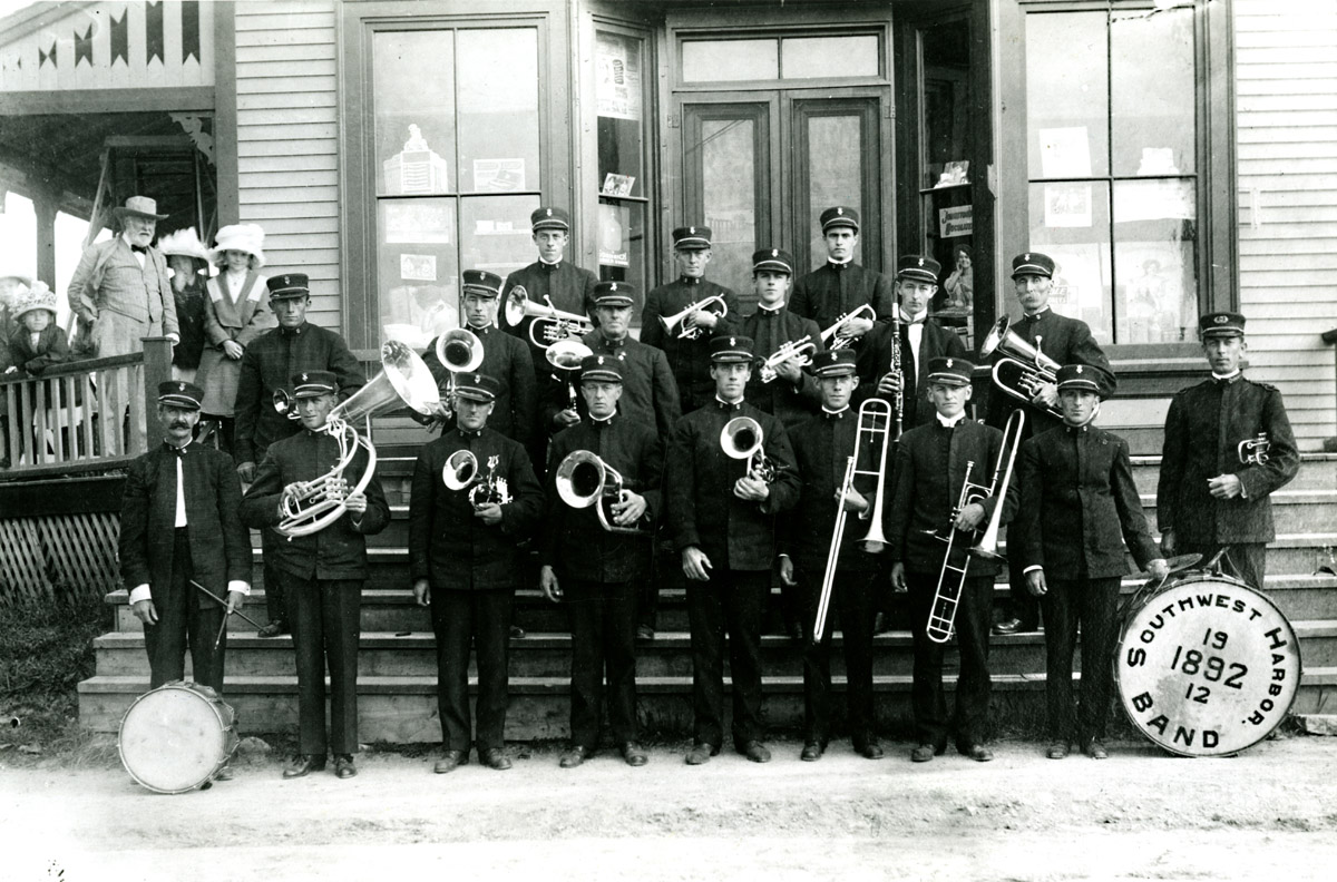 20th Anniversary of the Southwest Harbor Town Band at Dr. R.J. Lemont's Drug Store