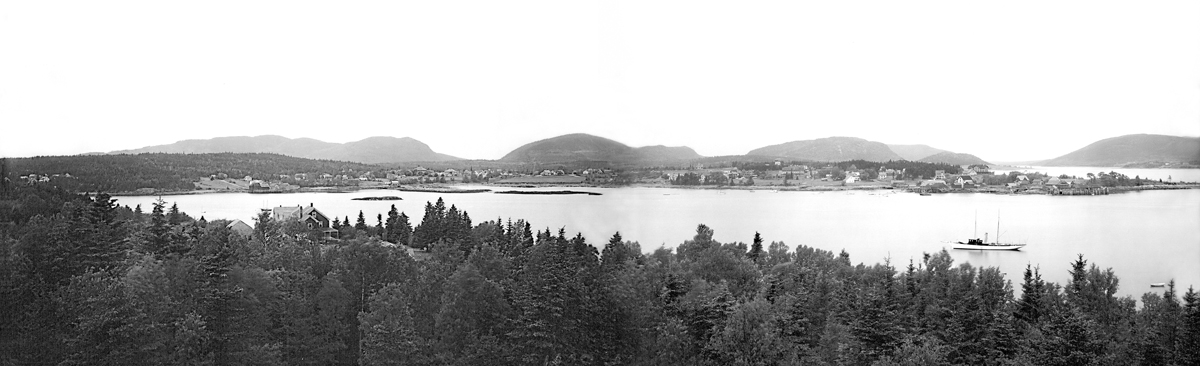Southwest Harbor - View from Manset to Clark Point - Combined Panorama