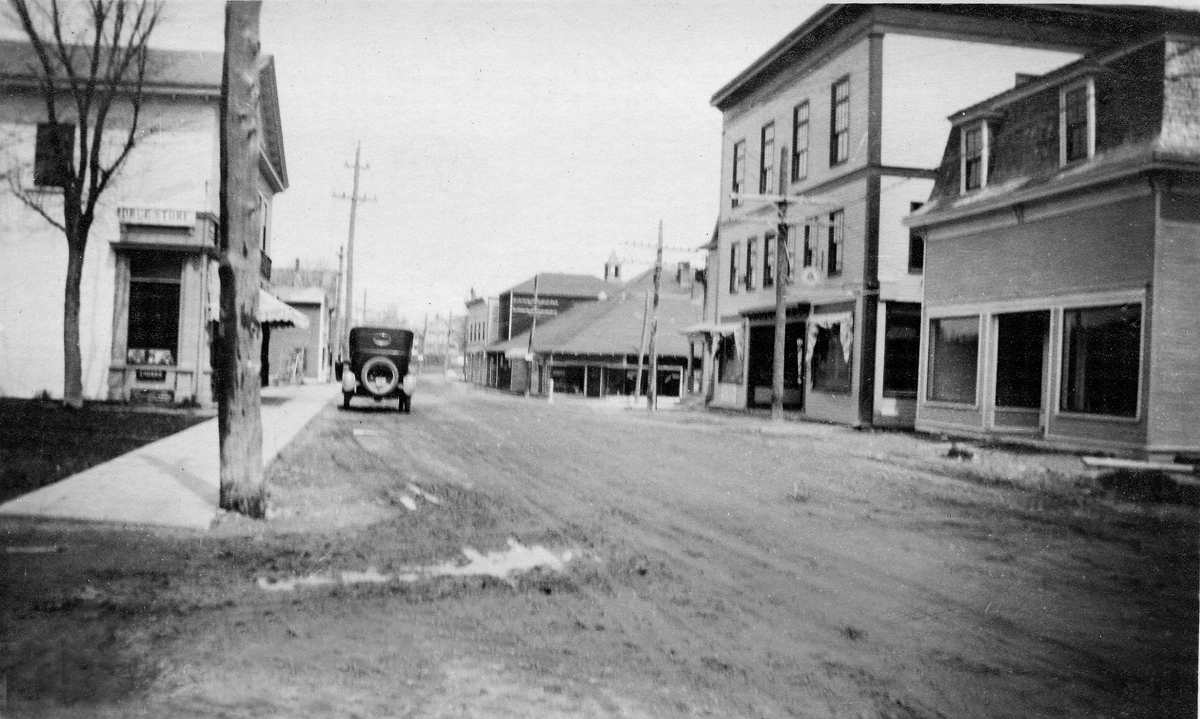 Main Street Looking North One Year After the Fire
