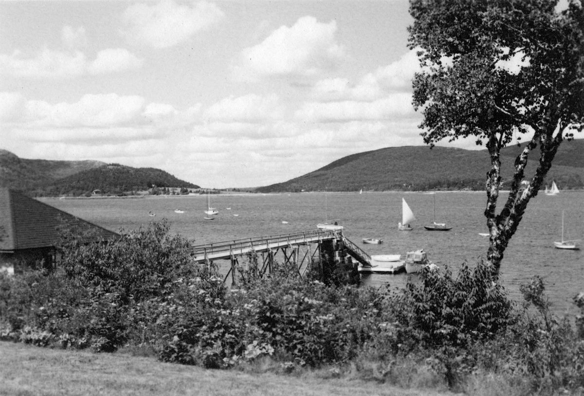 The Claremont Hotel Dock Looking Up Somes Sound - After 1930