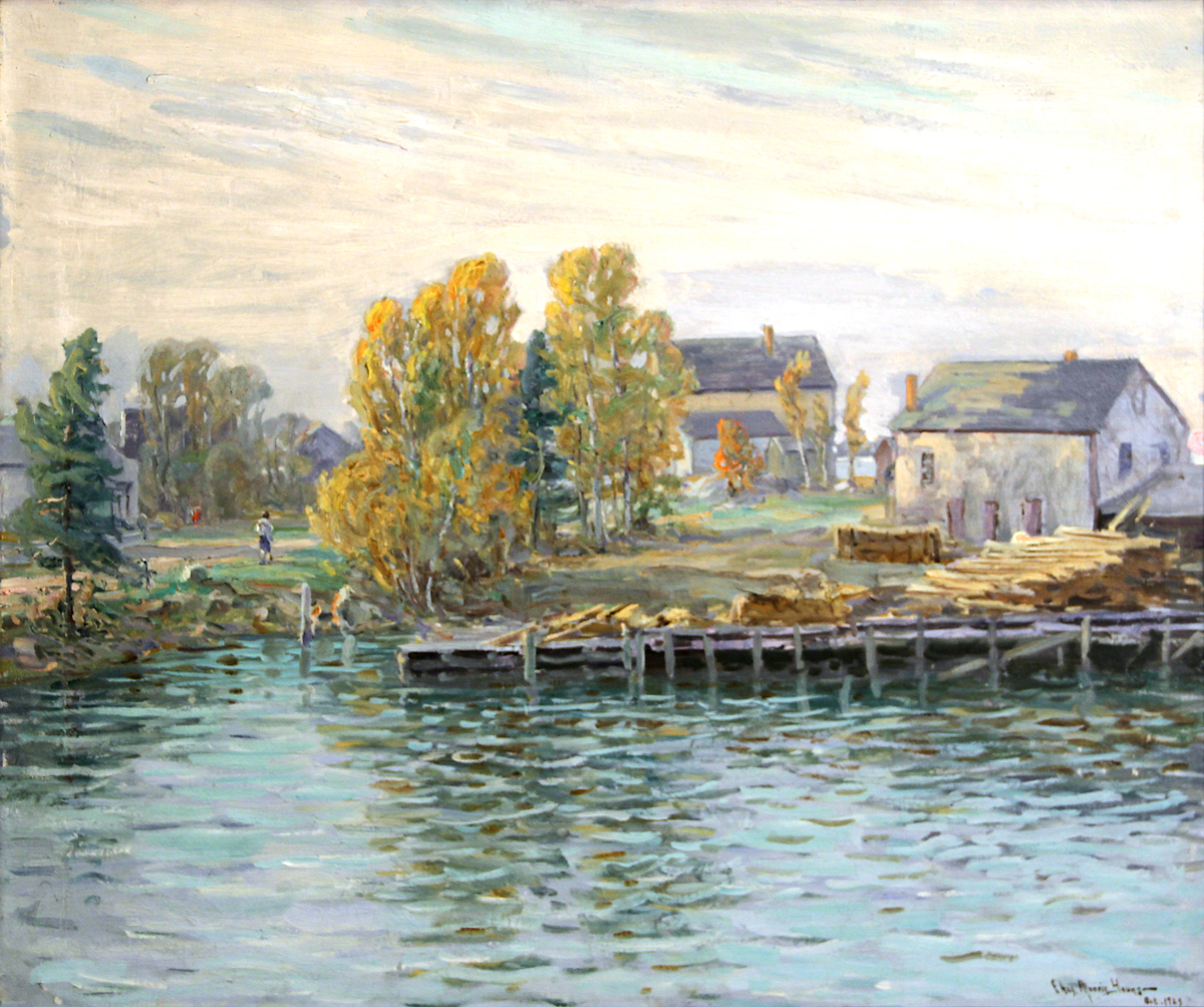 Clark's Wharf, Southwest Harbor by Charles Morris Young