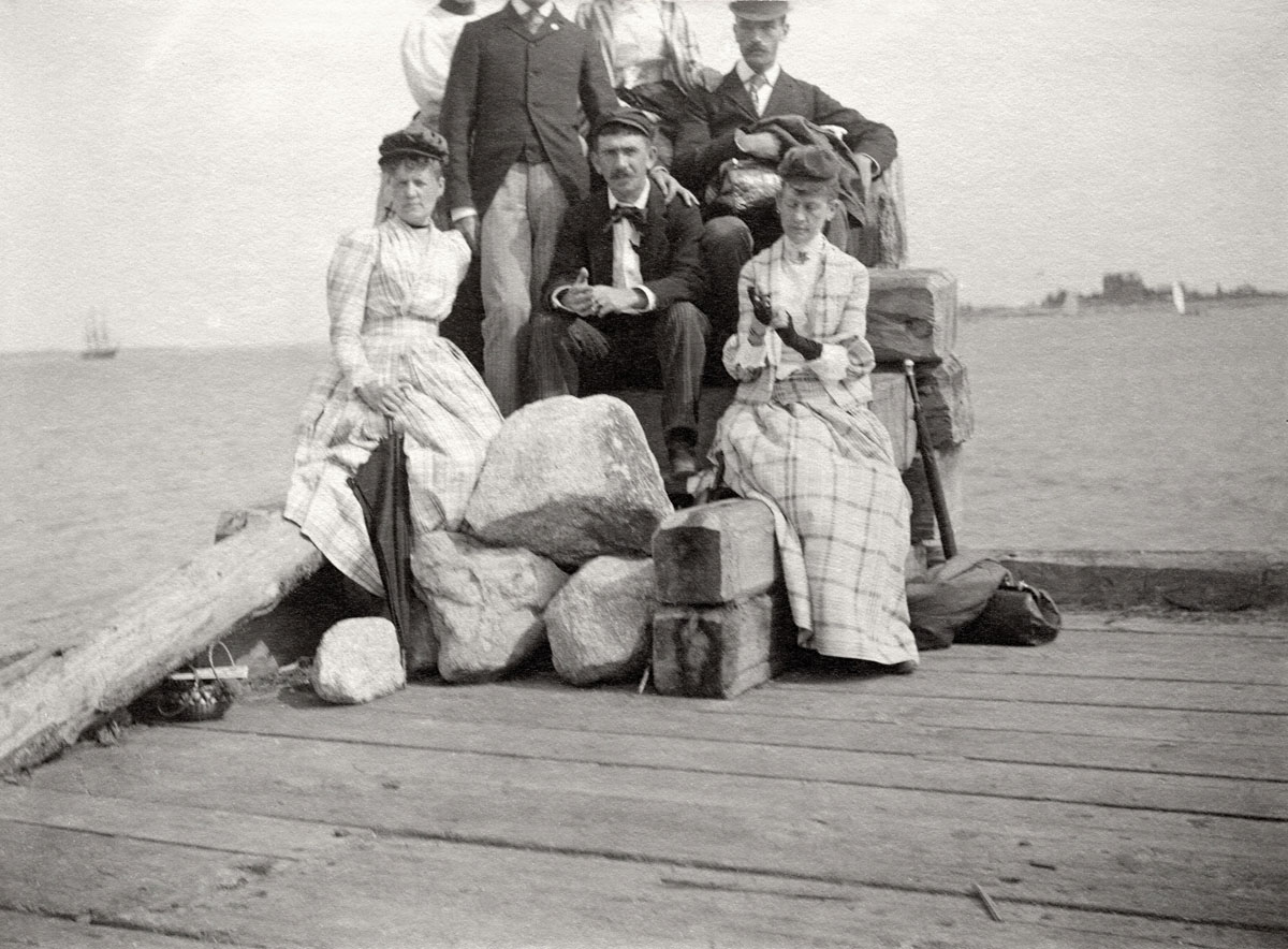 Group on Steamboat Wharf - Southwest Harbor