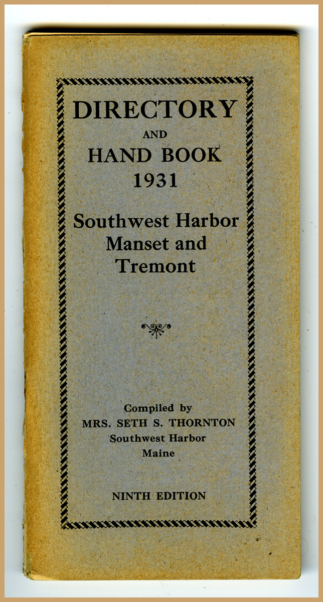 Directory and Hand Book