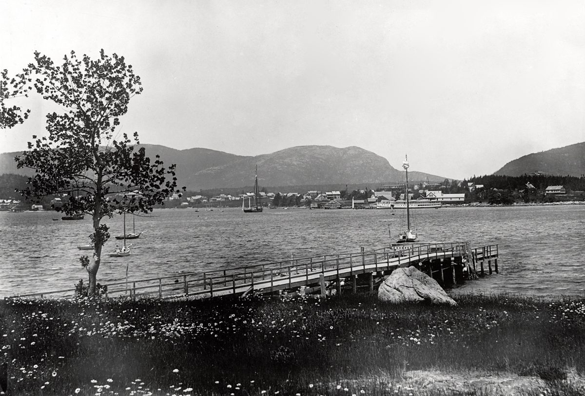 Steamer Sappho at Steamer Wharf in Southwest Harbor - Between 1886 and 1911