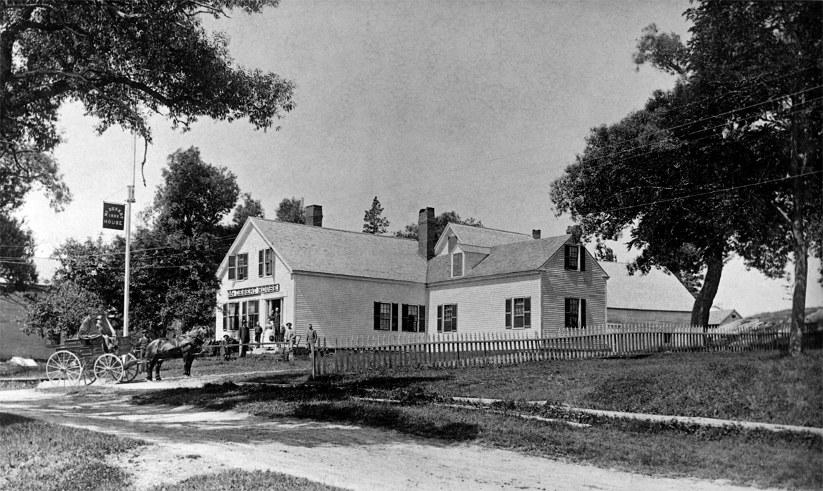 Mt. Desert House on Main Street in Somesville - Between 1888 and 1904